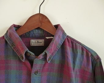 Vintage L.L.Bean Northwoods Plaid Flannel Mens XL USA Made