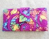 Fabric Wallet - Batik Swirls