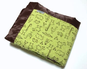 Baby Boy Blanket - Animals - Baby Blanket