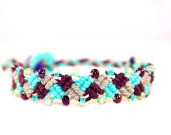 Colorful micromacrame hemp bracelet, macrame, hippie, music festivals, bohemian, boho, gypsy, handmade, Hemp jewelry