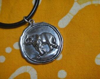 Ganesh Elephant Pendant Necklace Medallion