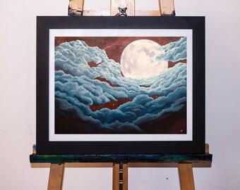 Dreamscape Moon Clouds Art Print