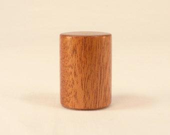 """Wood Lamp Finial Mahogany Drum Pattern 2, 1.5"""" Tall x 1.1"""" dia"""