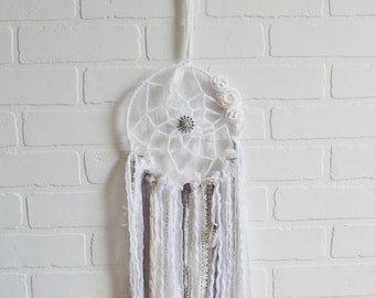 Dreamcatcher, Dream Catcher, Boho Dreamcatcher, Large Dreamcatcher, Dream Wish Bottle, Floral Dreamcatcher, Shabby Dreamcatcher,