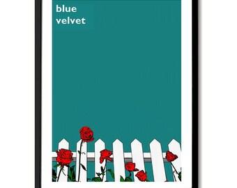 Blue Velvet inspired Film Poster Art Print