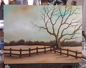 Bare Trees 1 - Original Painting