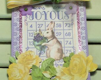 Easter Wall Hanging, Easter Decoration,  Easter Bunny