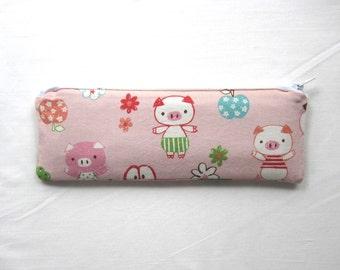 Skinny Piggies Zipper Pouch / Pencil Case