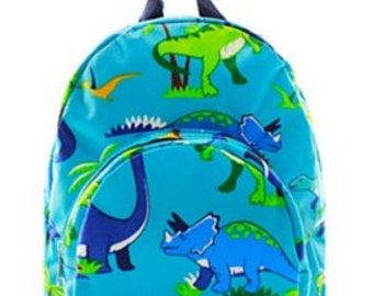 Personalized Boys Backpack- Toddler Backpack   BOYS BOOKBAG    DINOSAUR Backpack