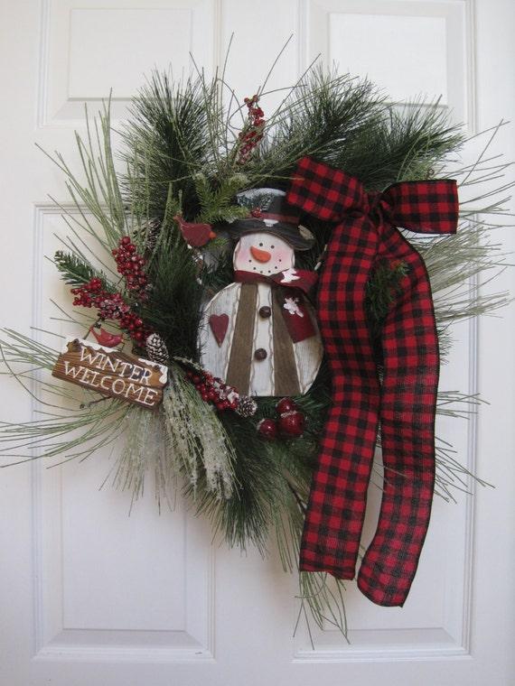 after christmas sale winter wreath front door wreath. Black Bedroom Furniture Sets. Home Design Ideas