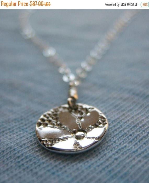 SALE Tiny Daisy Sterling Silver Necklace