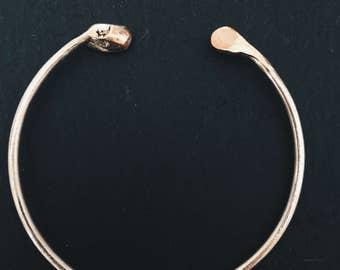 Modern Silver Copper Adjustable Bangle