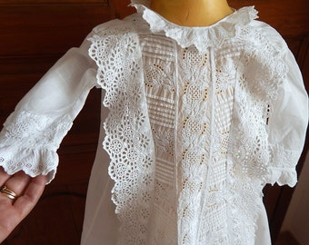 Victorian Christening Gown English with Rich Embroidery Suitable for Baby Boy or Girl