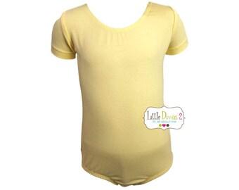 Lt.Yellow Leotard-Ballet Short Sleeve Leotard (Children's)