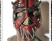 Leather Mask- MADE to ORDER and RESERVED for Eric