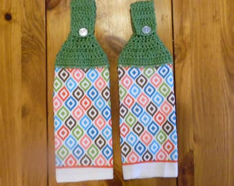 crochet towel, crocheted towel, kitchen towel, hanging towel, mothers day, kitchen decor