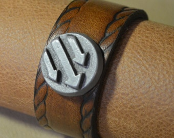 Iron Front/Antifa Arrows Bracelet with Rope Border