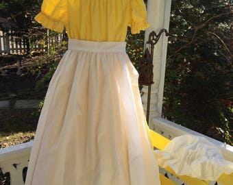 Ships Today -Pioneer, Prairie, Colonial  Felicity, American Girl Costume -   Girls Sz  5 - 6