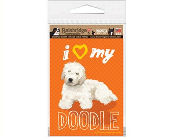 I Love My Cream Doodle - Magnet Indoor-Outdoor Magnet