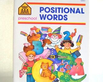 Positional Words Preschool Workbook Teacher Student Learning Elementary School Education Language Arts English Homeschool Reading