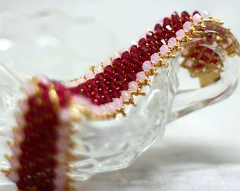 Bold Swarovski Crystal & Gold Bead Bracelet