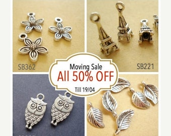 Moving 50off Sale - Collection Wholesale Buys Mix Charms Pendant Drop/Connector C-362