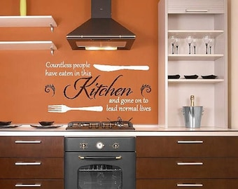 20% off Countless people have eaten in this Kitchen Cook- Vinyl Lettering decalwall words quotes graphics decals Art Home decor itswrittenin
