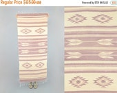 FEBRUARY SALE Handwoven SOUTHWESTERN Fringed Rug