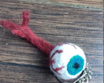 Plucked Eye Ball Key Ring