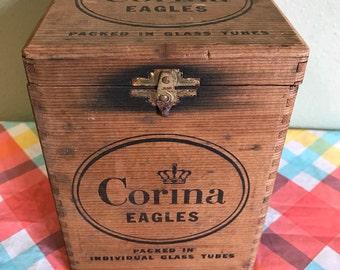 Vintage Corina Eagles Cigar Box