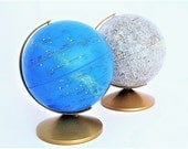 Vintage Globe Set - Moon and Celestial Globes - Moon and Stars
