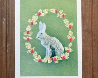 Hare with Raspberries Print