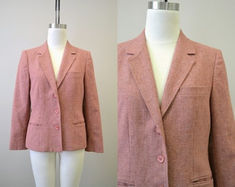 1970s Country Suburbans Rose Wool Jacket