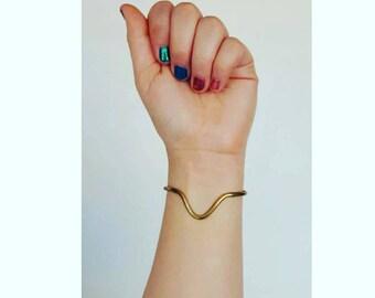 Vintage Brass Bracelet / Cuff Bracelet / 70s Bracelet / Bangle Cuff / Minimalist Bracelet / Bohemian Bangle