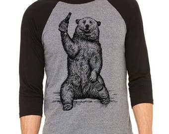 Bear Shirt, Craft Beer Shirt, Funny Beer Shirt, Homebrewer Shirt, California Beer Geek, Baseball Tee, Perfect for Beer Festival, Birthday