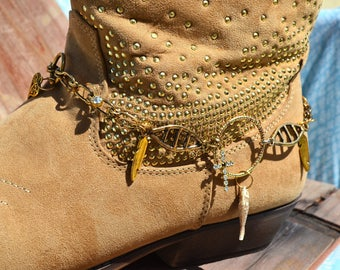 Boot Bling Gold Chains Candy Jewelry