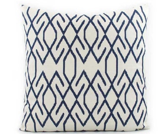 Chevron Navy Pillow Cover 18x18, 20x20, 24x24 Euro or Lumbar, Blue Throw Pillow, Blue Cushion, Zig Zag Pillow, Accent Pillow, Lacefield Zoe