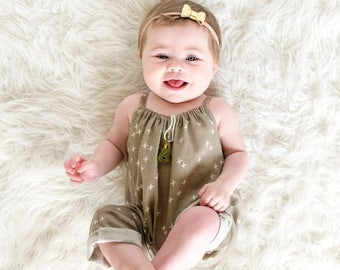 Baby beach romper, hipster baby clothes, summer baby romper, organic, summer romper boy, gender neutral baby romper, muslin romper