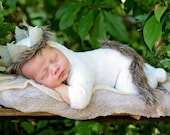 CUSTOM ORDER Handmade photo prop Newborn size  Where the Wild Things Are Crown  romper and tail