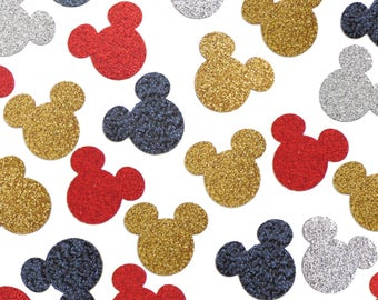 Glitter Mickey Mouse Confetti, 1st Birthday Party, Baby Shower Decorations - No721