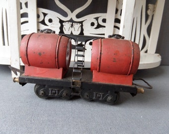Large French Antique  O Scale Wine Tank train Car 1930s
