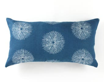 ON SALE Kelly Wearstler Sea Urchin Pillows in Teal/Dove 12 X 22 (Both Sides)