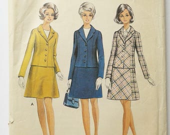 60s vintage sewing pattern skirt suit jacket Style 2563 size 16