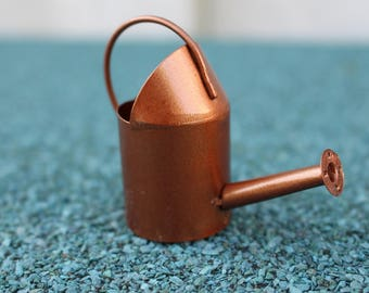 Miniature fairy garden accessories, miniature watering can