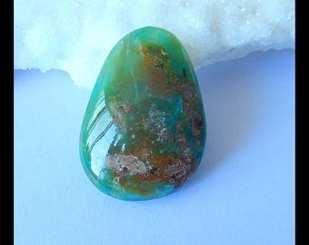 Semiprecious Stone Blue Opal Gemstone  Cabochon,Freeform Cabochon Fine Jewelry,29x20x6mm,4.6g(b0467)