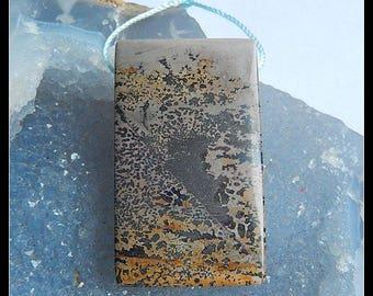 Chohua Jasper Gemstone Pendant Bead,Focal Bead,46x27x7mm,20.5g(d0328)