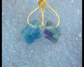 Nugget Fluorite Gemstone Earring Bead,13x3mm,3.4g