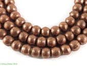 Ethiopian Copper Beads Round Africa 30 Inch 106812