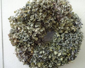 Hydrangea Wreath   Mother's Day Gift  Natural Wreath Dried Wreath  Hand Crafted Wreath  Easter Decor  Home Decor  Blue Hydrangeas