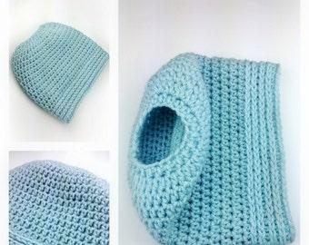 Simplicity Bun Hat crochet pattern ponytail hat messy bun hat - PDF